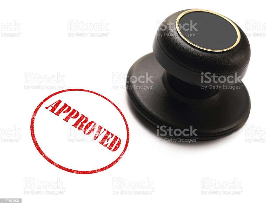 Approved stamp on white background royalty-free stock photo