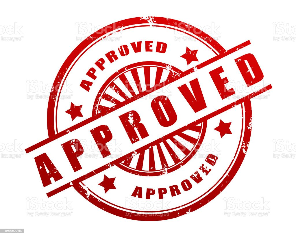 Approved Stamp royalty-free stock photo