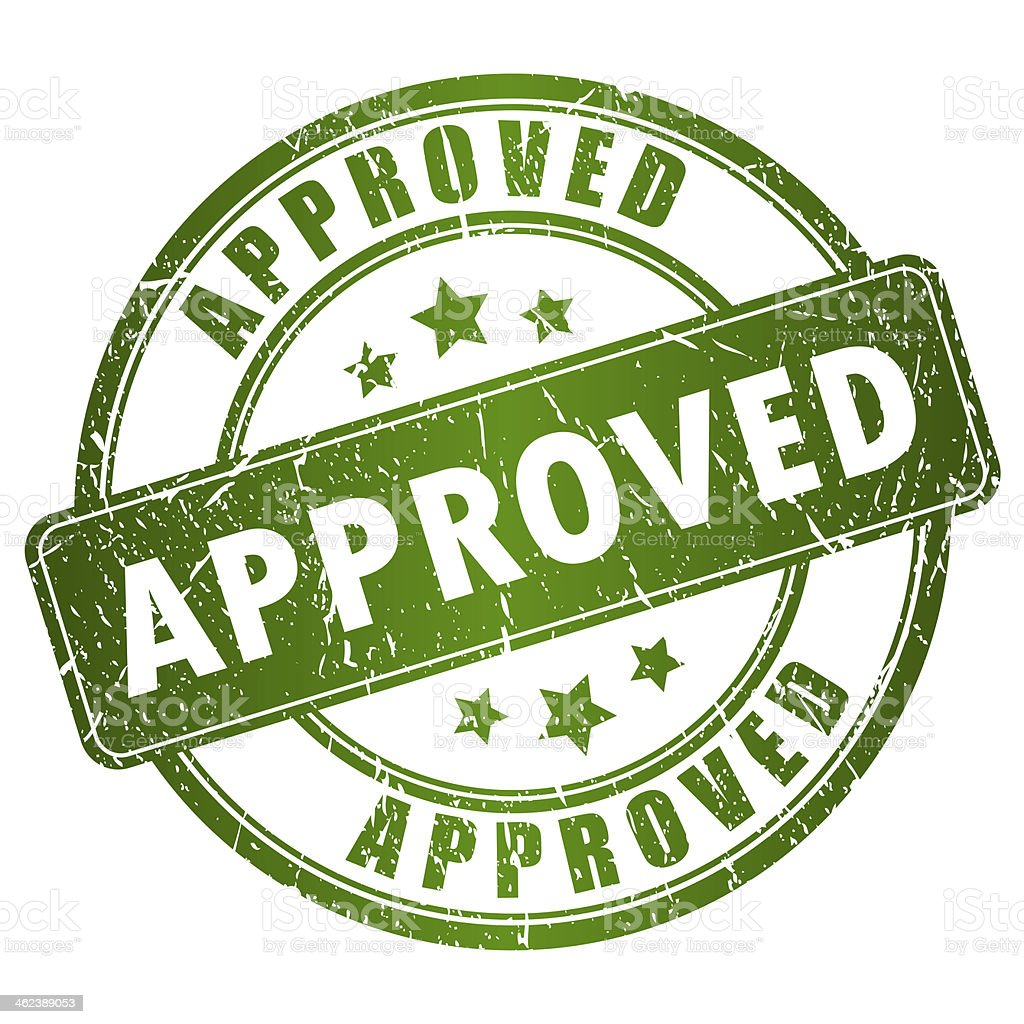 Approved stamp stock photo