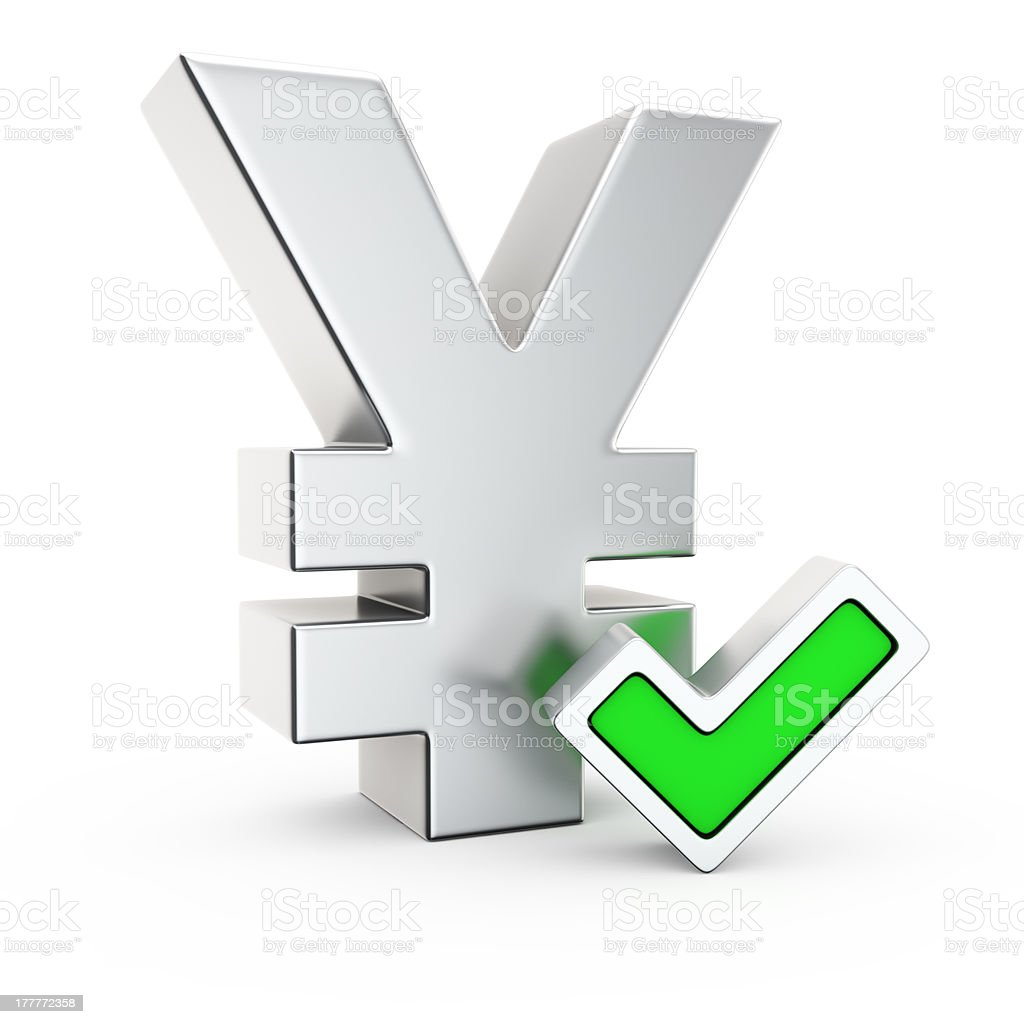 Approved yen stock photo