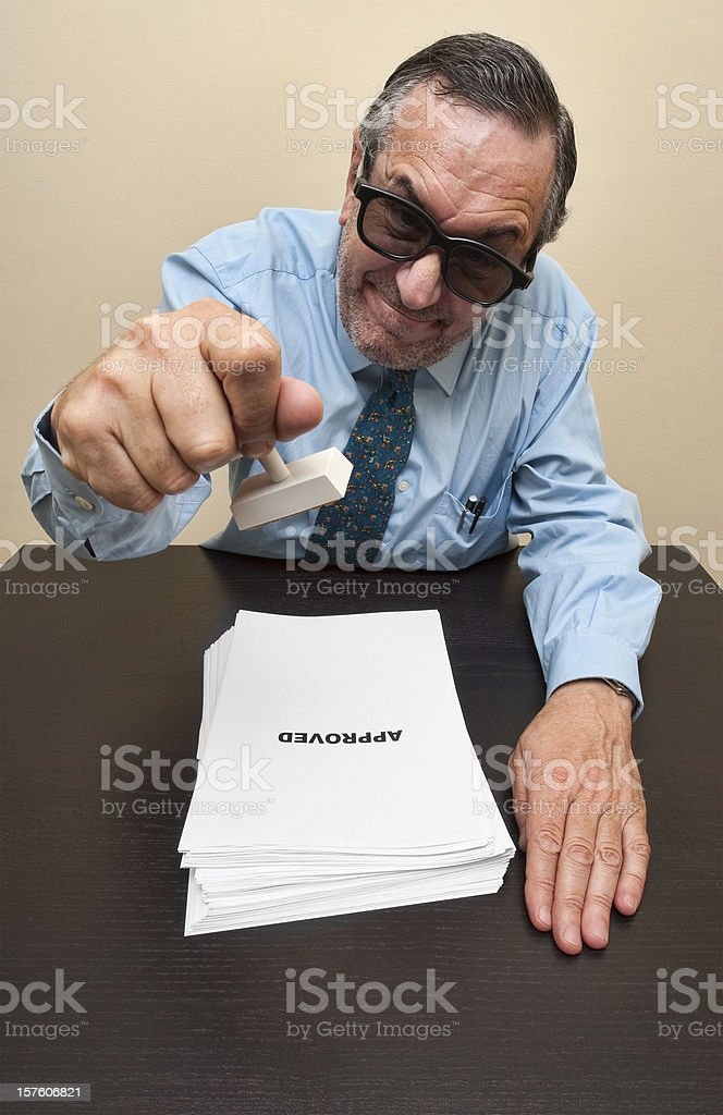 Approving legal documents royalty-free stock photo