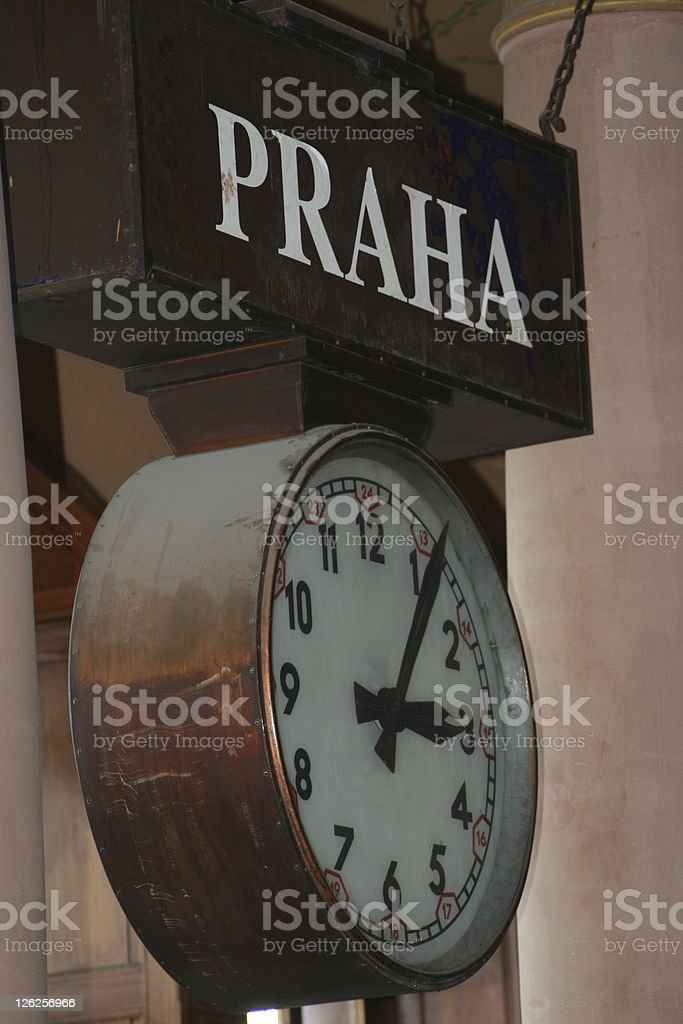 Approx. Five Past Three 15:05 in Prague royalty-free stock photo