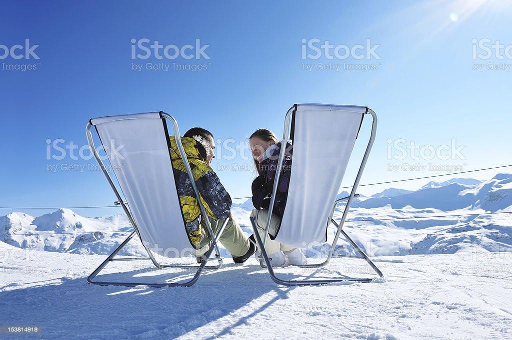 Apres ski at mountains royalty-free stock photo