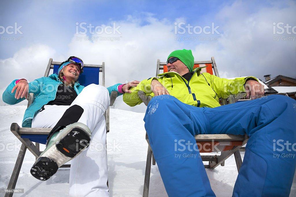 Apres-ski Couple royalty-free stock photo