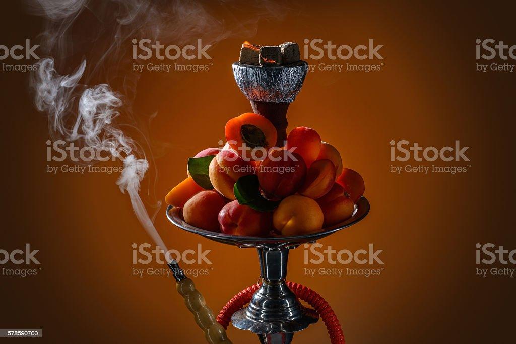 Apricot aroma hookah stock photo