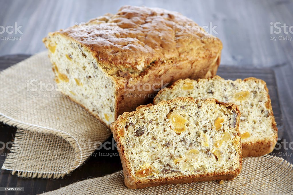 apricot bread royalty-free stock photo