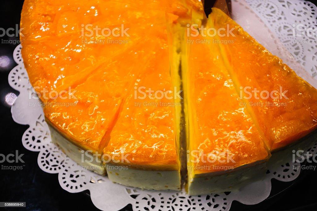 Apricot Cheesecake stock photo