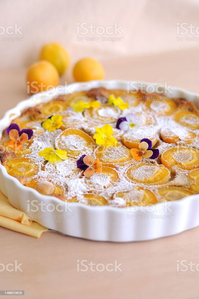 Apricot Clafoutis stock photo