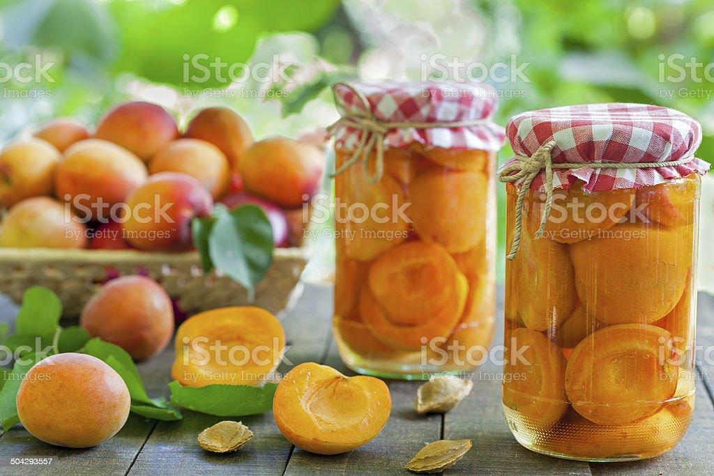 Apricot compote stock photo
