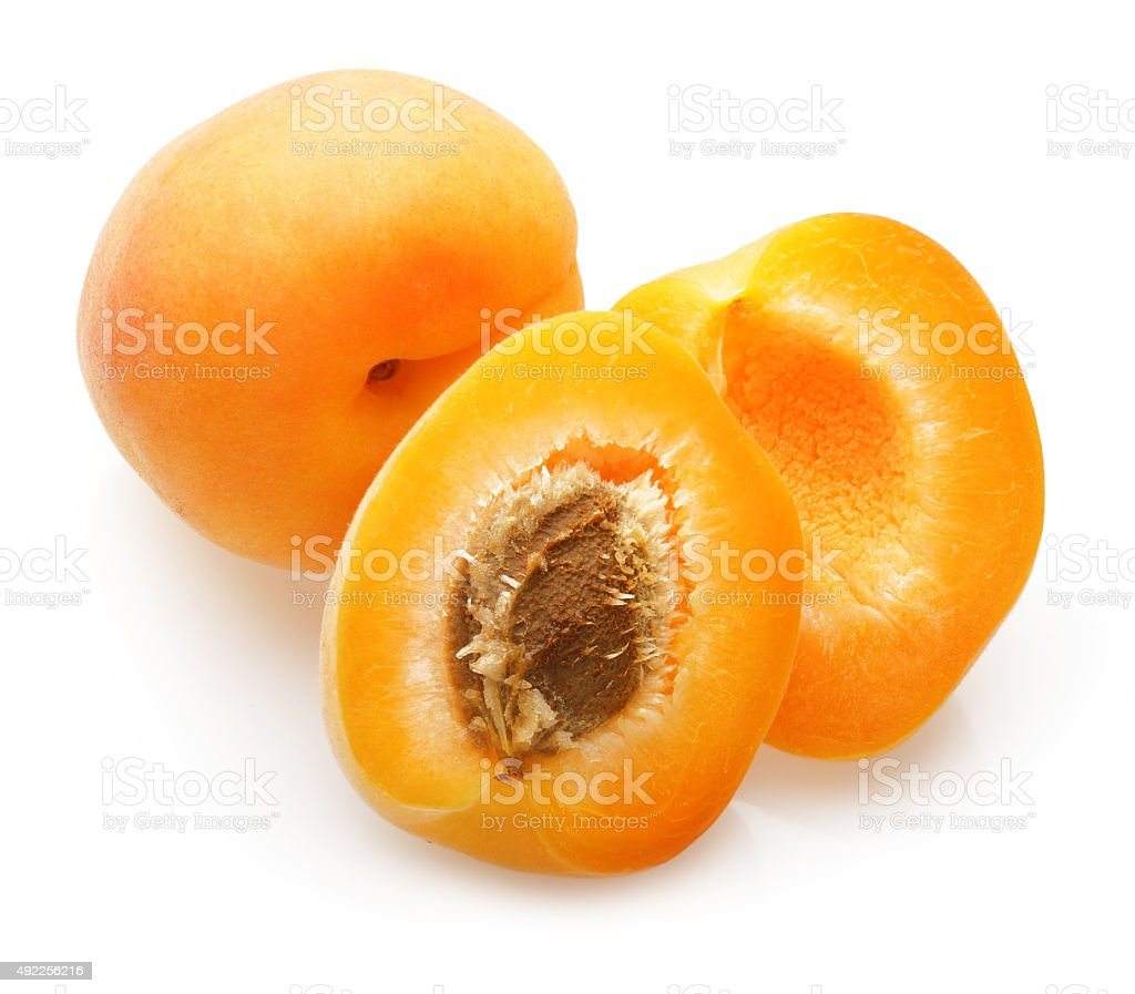 Apricot fruit isolated stock photo