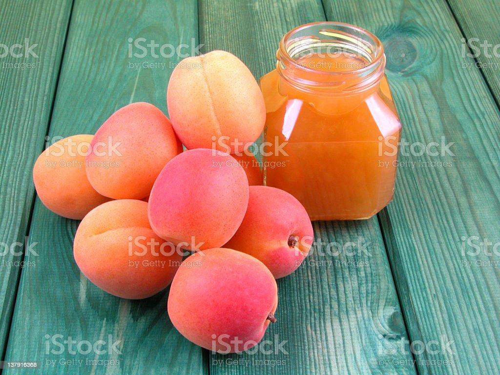 apricot jam royalty-free stock photo