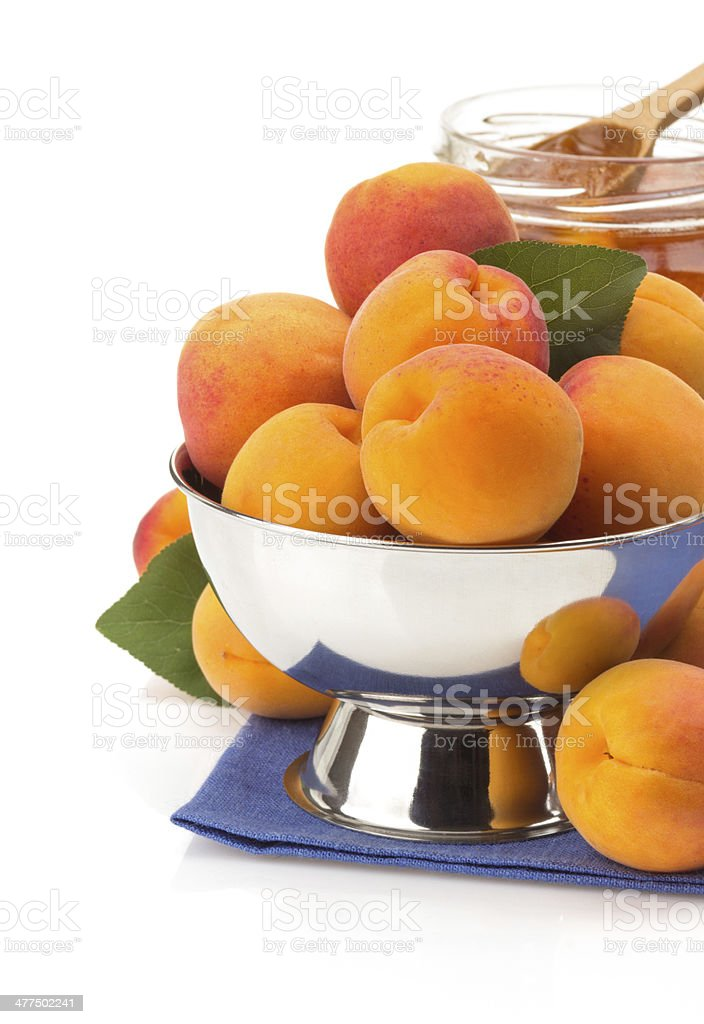 apricot on white background royalty-free stock photo