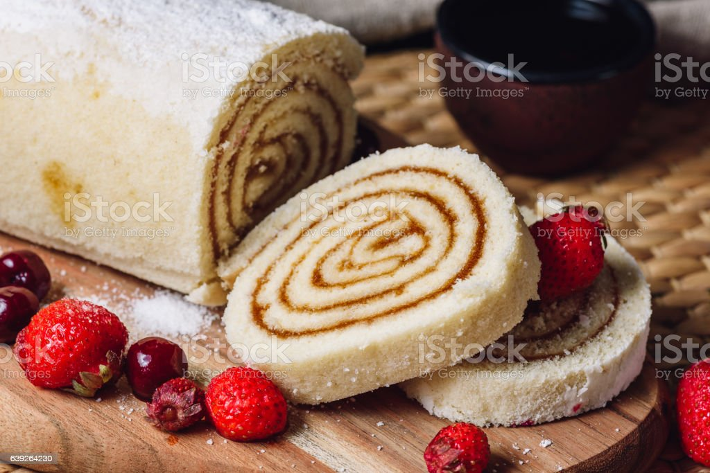 Apricot Paste Filled Rolls stock photo
