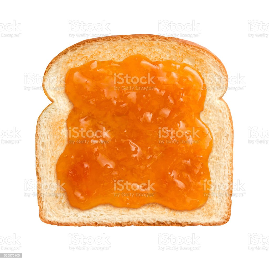 Apricot Preserves on Toast stock photo