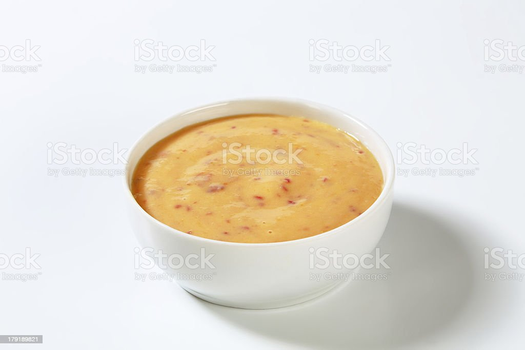 apricot purée stock photo