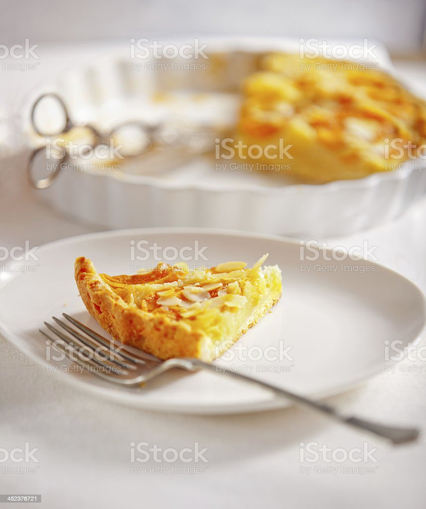 Apricot tart stock photo