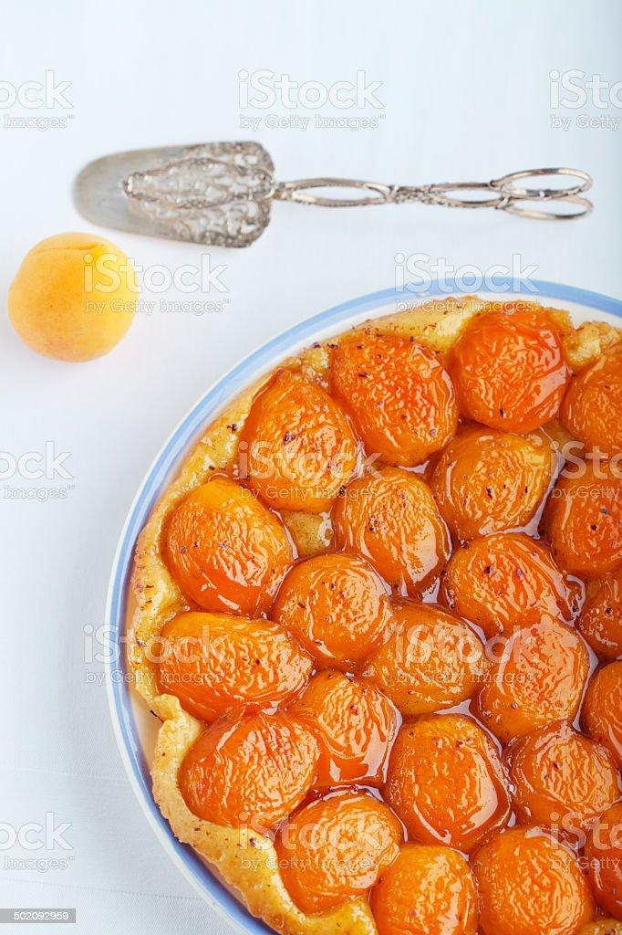 Apricot Tarte Tatin stock photo