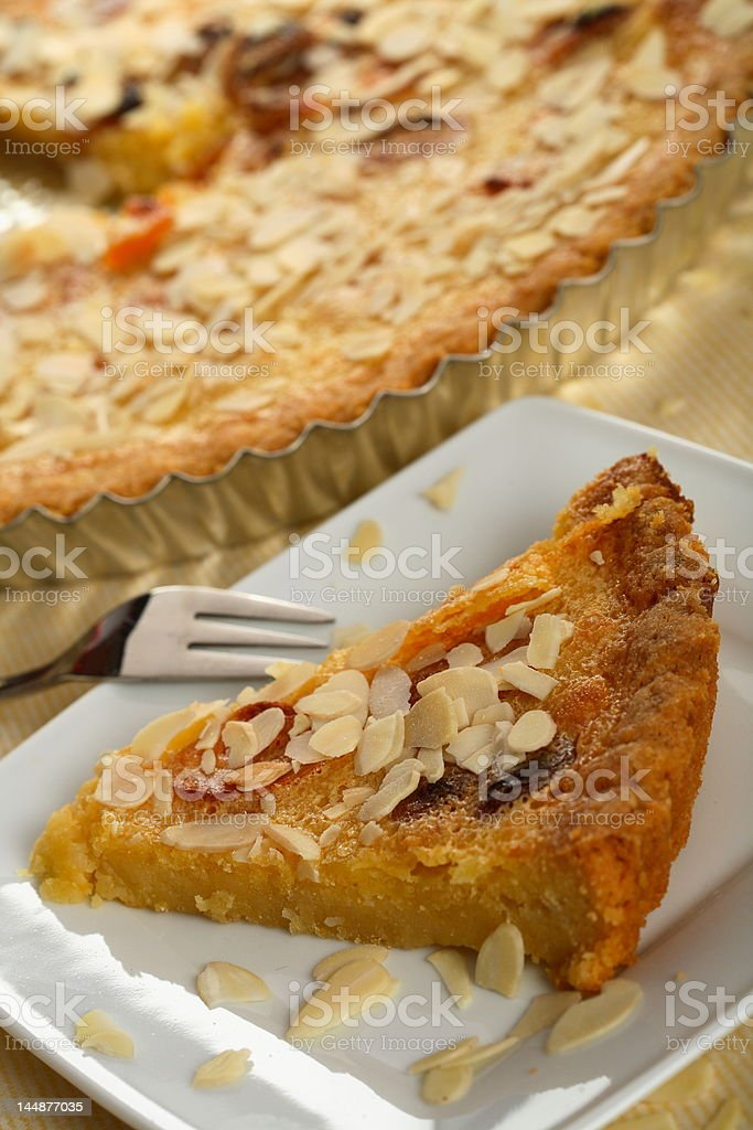Apricots cake with almonds royalty-free stock photo
