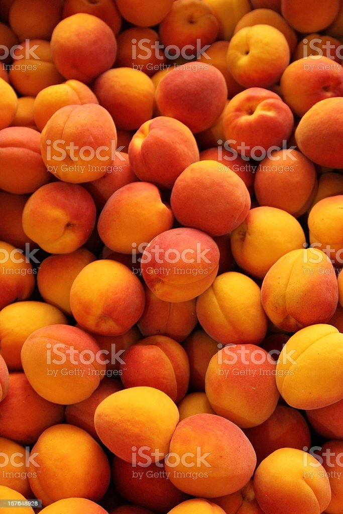 Apricots full frame royalty-free stock photo