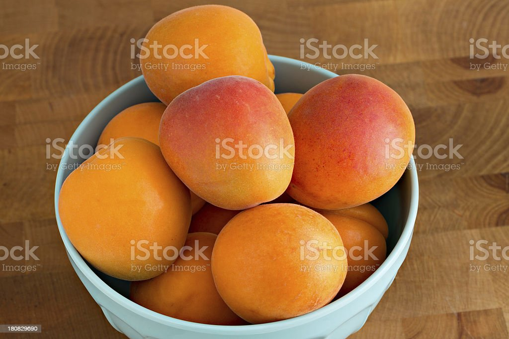 Apricots In A Bowl royalty-free stock photo