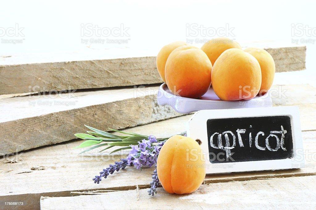 Apricots & lavander stock photo
