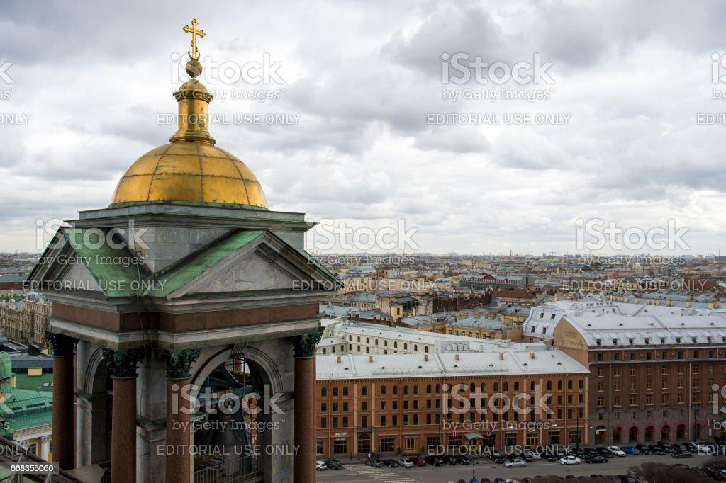 April 13, 2015 - St.Petersburg Russia : Aerial view of St Petersburg stock photo