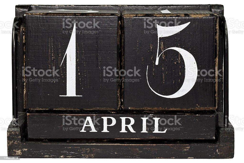 April 15 stock photo