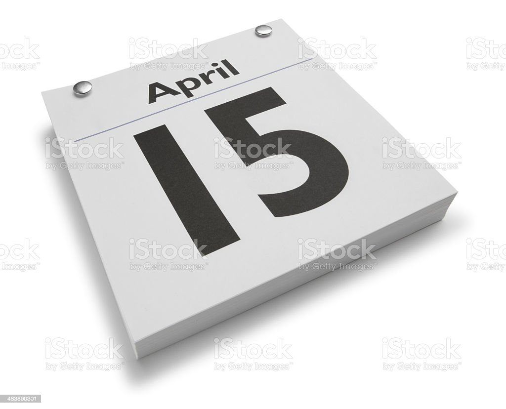 April 15th royalty-free stock photo