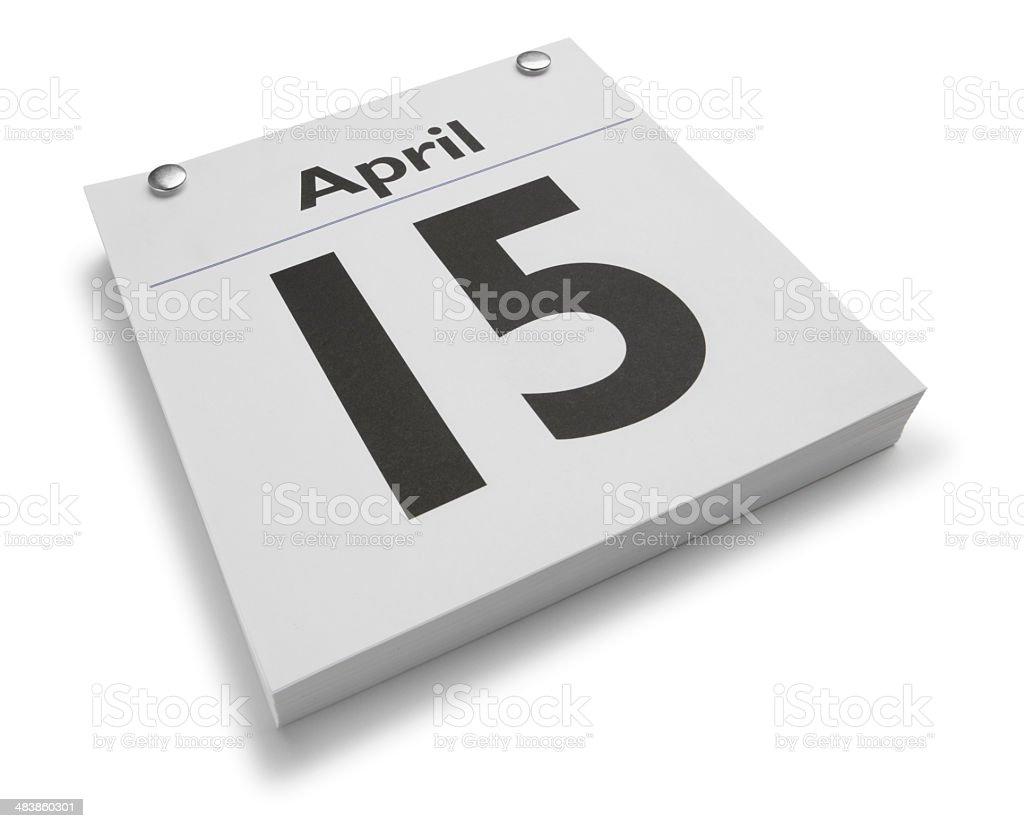 April 15th stock photo