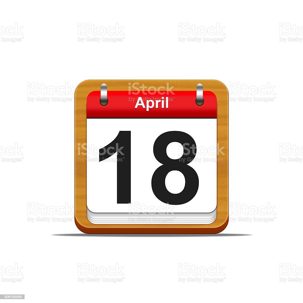 April 18. stock photo