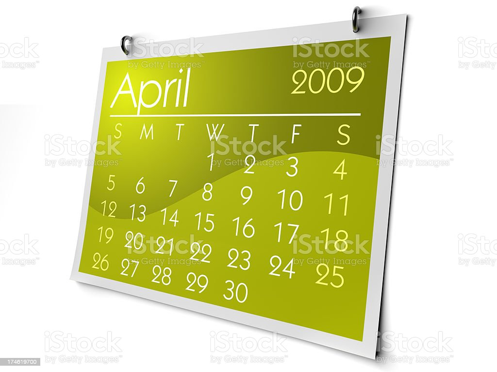 April 2009 royalty-free stock photo