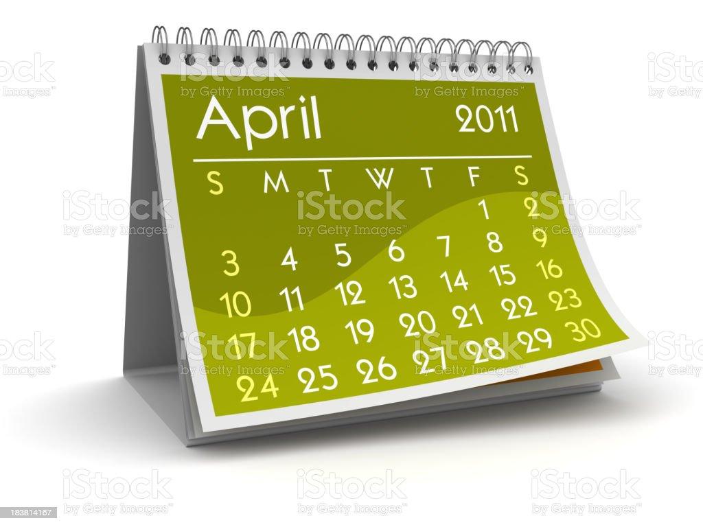 April 2011 royalty-free stock photo