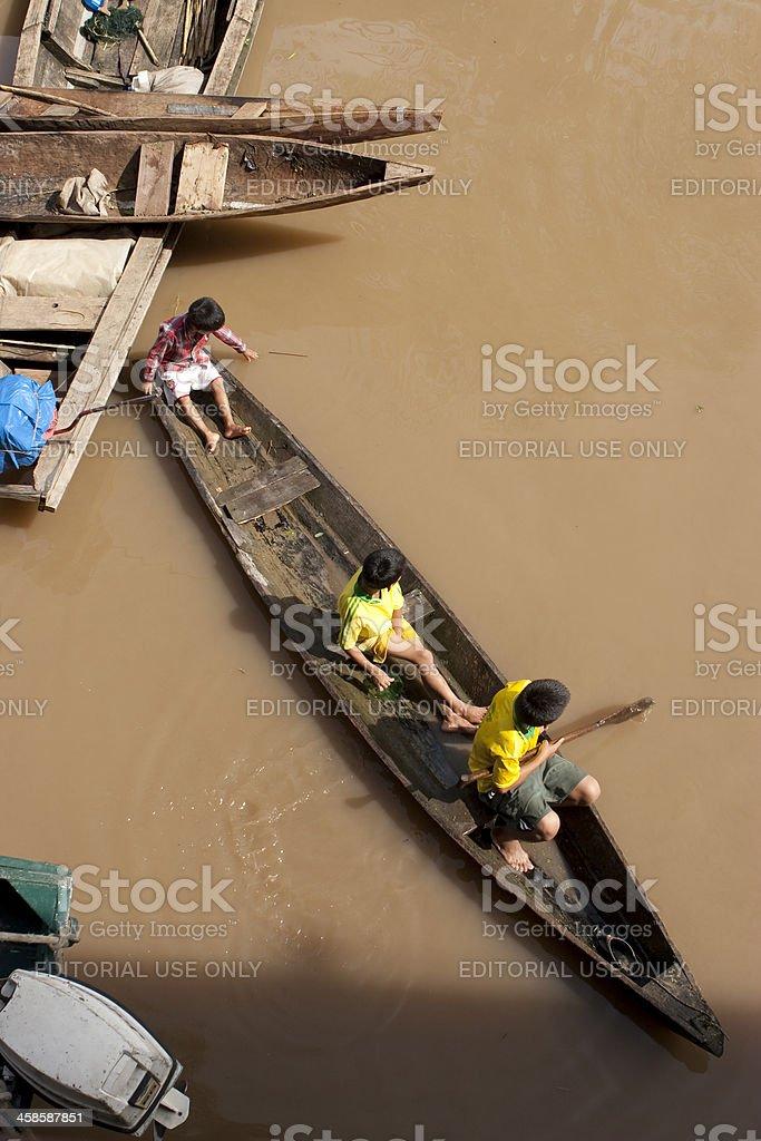April 22, 2008 - Amazon River, Peru royalty-free stock photo