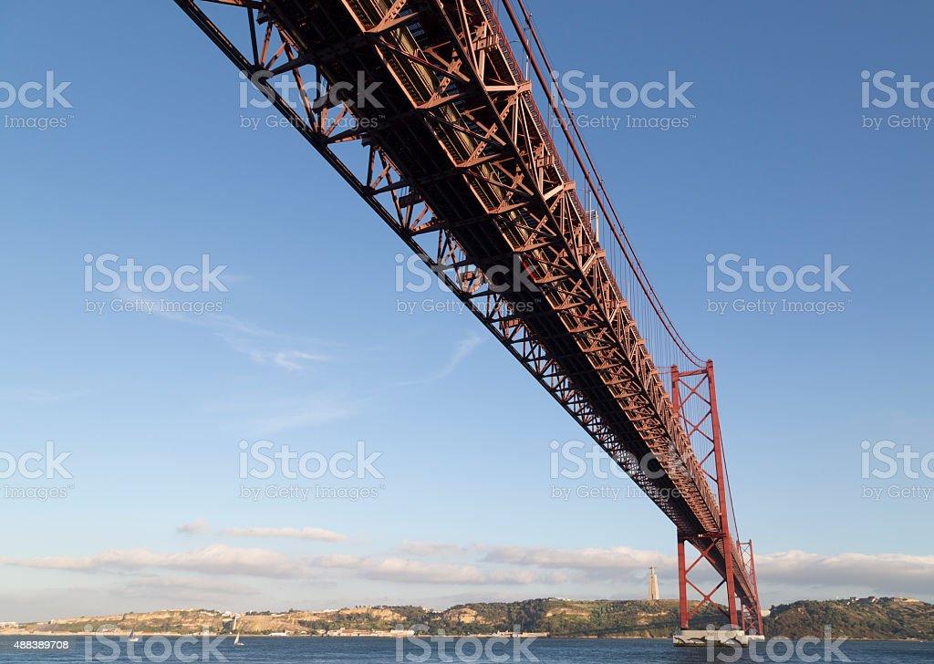 25 de Abril Bridge, Lisbon stock photo