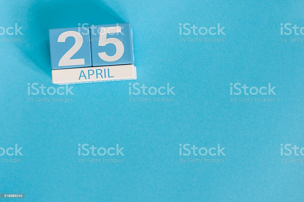 April 25th. International Day Of DNA. Image of april 25 stock photo