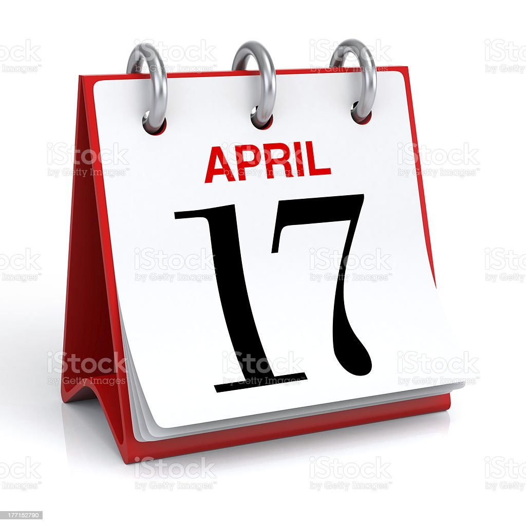 April Calendar stock photo