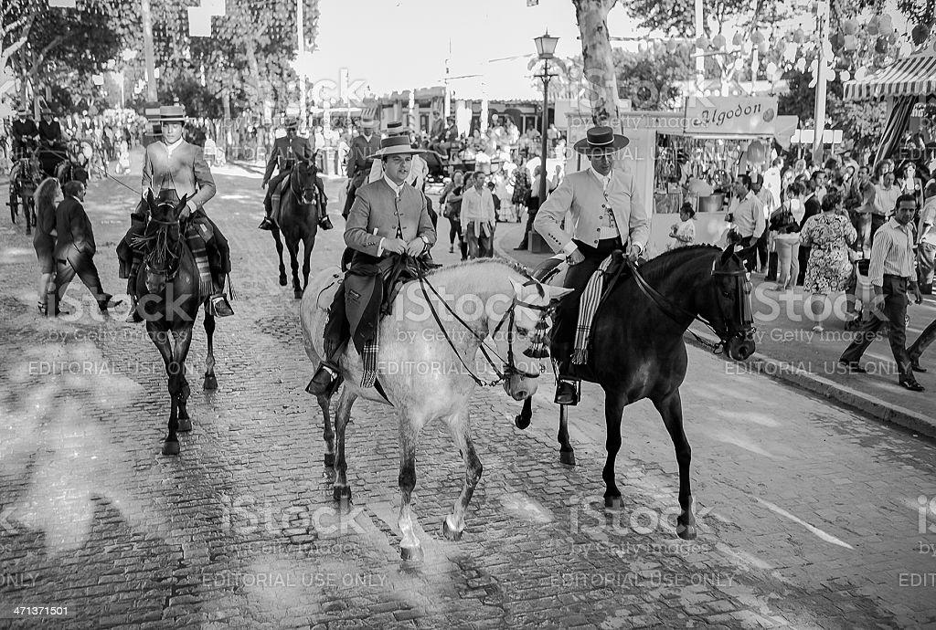 April Fair of Seville stock photo