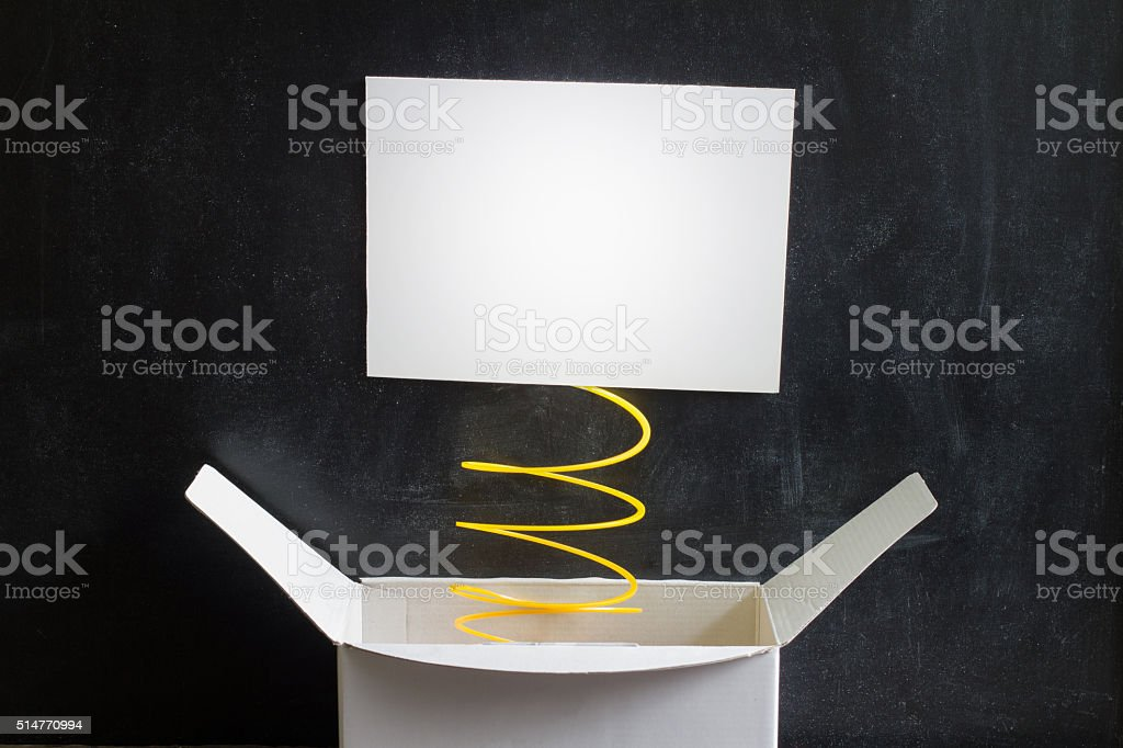 April Fool's Day Abstract box with surprise and joke stock photo