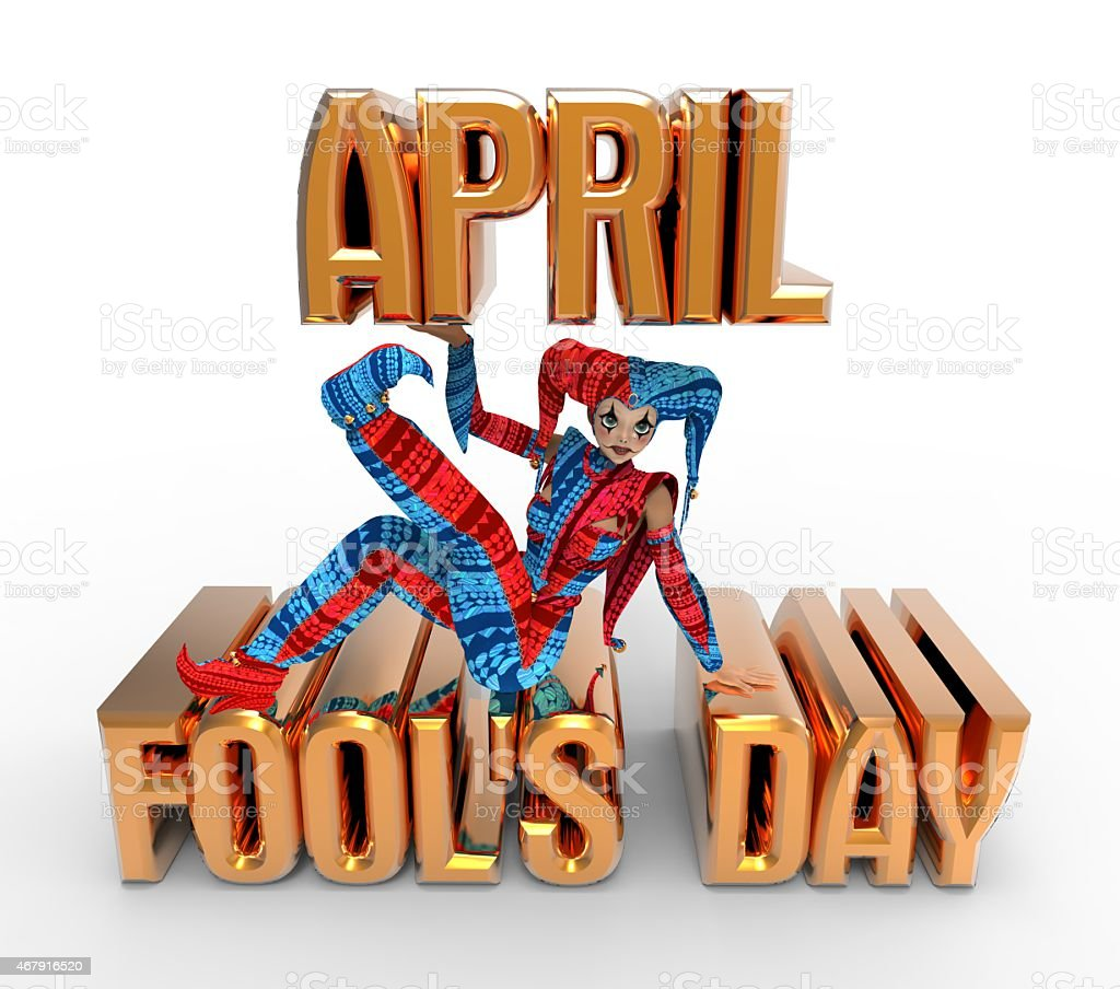 April Fool's Day Clipart stock photo