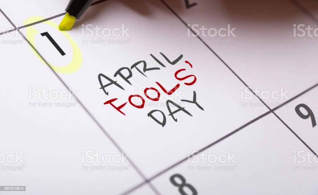 April Fools' Day stock photo