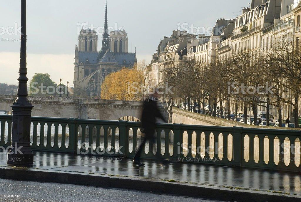 April in Paris stock photo