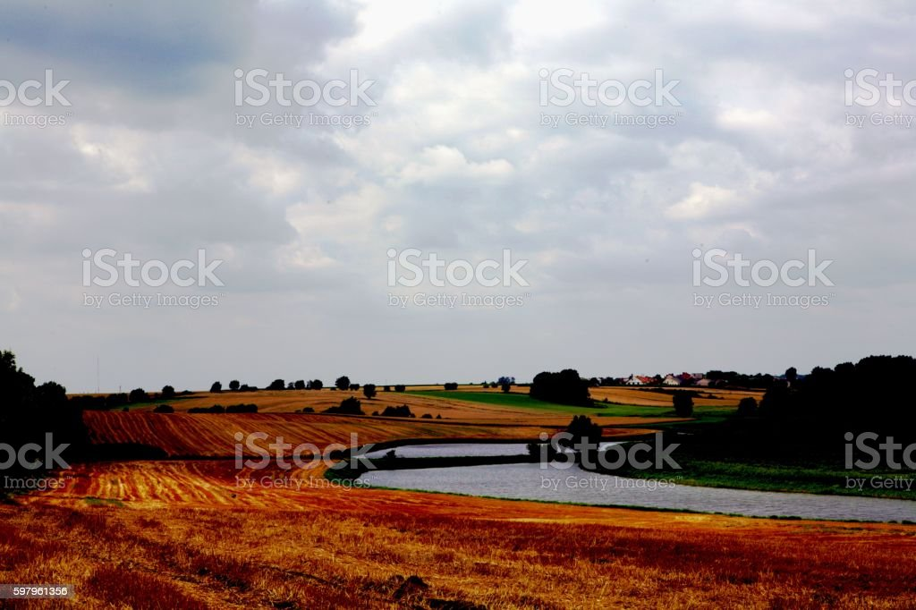 april landscape stock photo