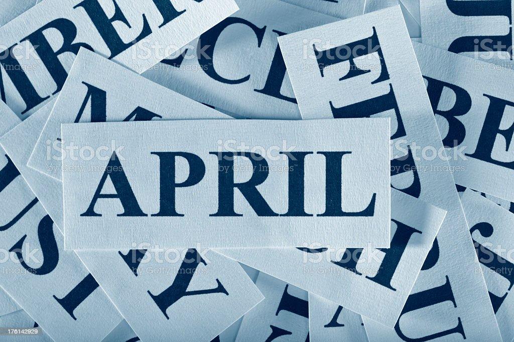 April royalty-free stock photo