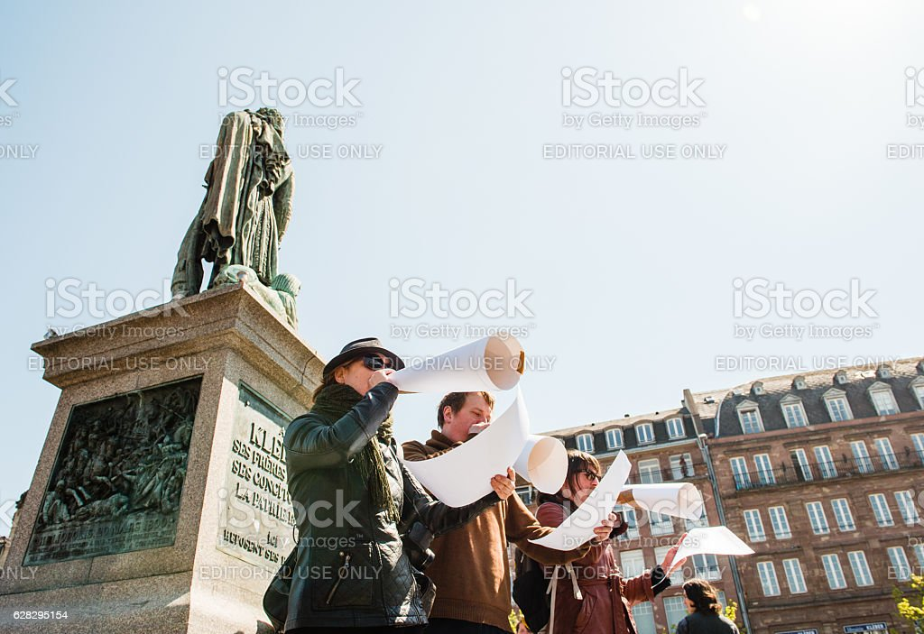 April protest against Labour reforms in France stock photo