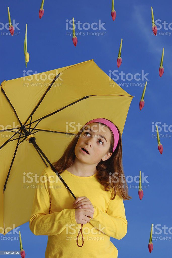 April Showers Bring May Flowers stock photo