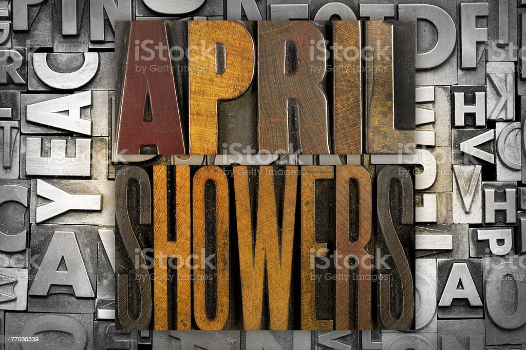April Showers royalty-free stock photo