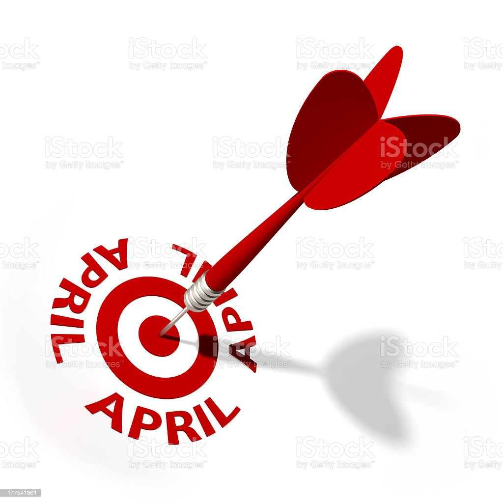 AprilTarget royalty-free stock photo