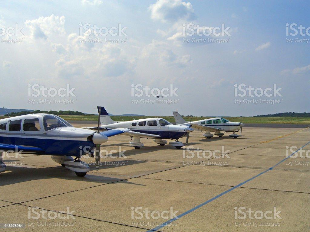 apron of Airport Kassel-Calden stock photo