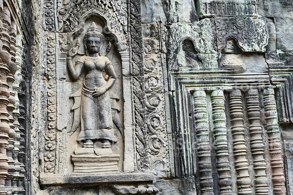 Apsara Carving royalty-free stock photo