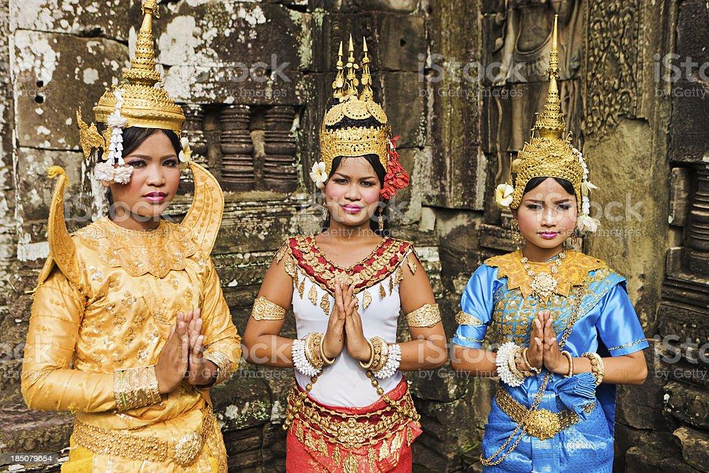Apsara Dancers at Angkor Wat stock photo